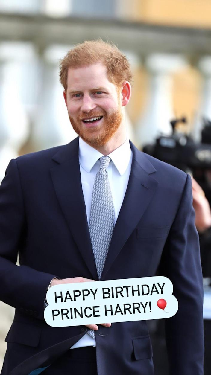 The Duke and Duchess of Cambridge shared this birthday message for Prince Harry. (dukeandduchessofcambridge / Instagram)