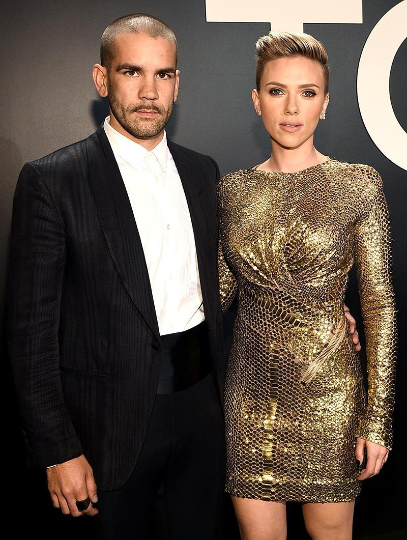 """<p>Scarlett Johansson is zero for two when it comes to marriages. The actress and the French journalist she quietly married in 2014 separated in the summer of 2016, but <a rel=""""nofollow"""" href=""""https://www.yahoo.com/celebrity/scarlett-johansson-romain-dauriac-split-201144256.html"""" data-ylk=""""slk:it wasn't reported until January;outcm:mb_qualified_link;_E:mb_qualified_link;ct:story;"""" class=""""link rapid-noclick-resp yahoo-link"""">it wasn't reported until January</a> of this year, after Johansson was spotted at the massive Women's March in Washington, D.C., without her wedding ring, that people noticed. Still, the two have kept it friendly — a good thing since they share a daughter, Rose Dorothy, born in September 2014. (Photo: Michael Buckner/Getty Images for Tom Ford) </p>"""
