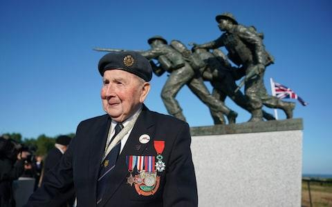 David Woodrow, 95, from Norwich ahead of the Inauguration of the British Normandy Memorial site in Ver-sur-Mer - Credit: PA