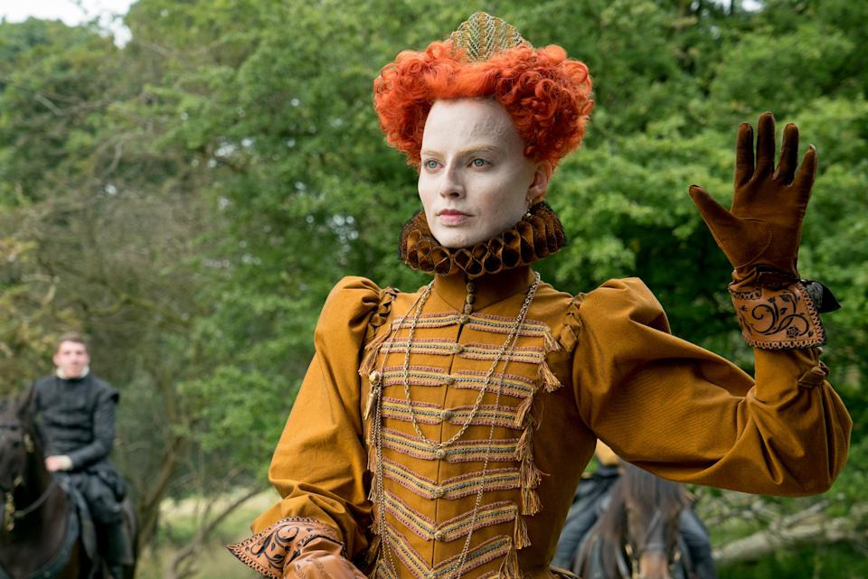 <p>Robbie looked more like Pennywise than powerful ruler</p>Universal