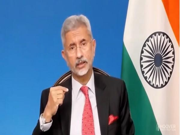 External Affairs Minister S Jaishankar speaking at an event in the US.