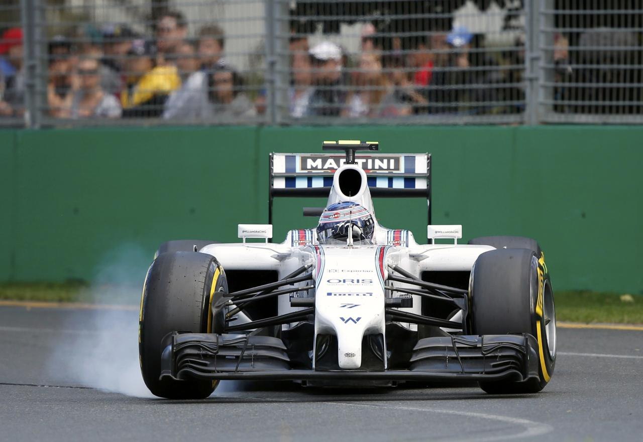 Williams Formula One driver Bottas of Finland drives during the Australian F1 Grand Prix in Melbourne