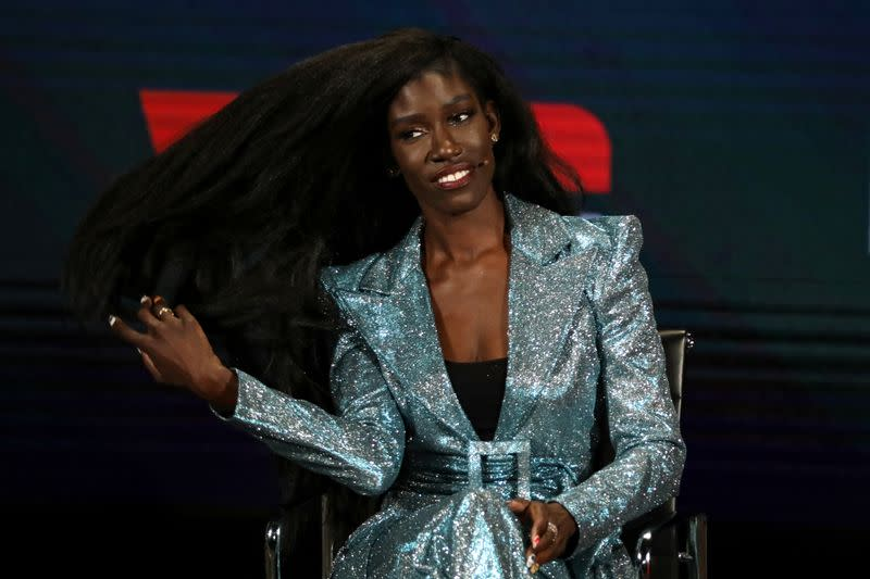 Bozoma Saint John, CMO of William Morris Endeavor, speaks on stage at the Women In The World Summit in New York
