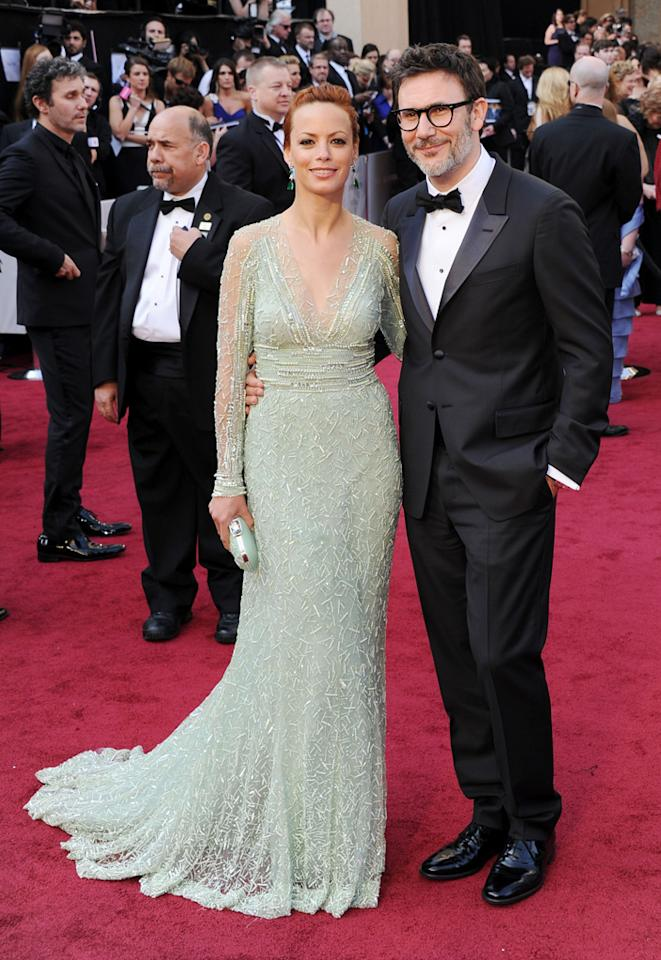 Michel Hazanavicius and Berenice Bejo arrive at the 84th Annual Academy Awards in Hollywood, CA.
