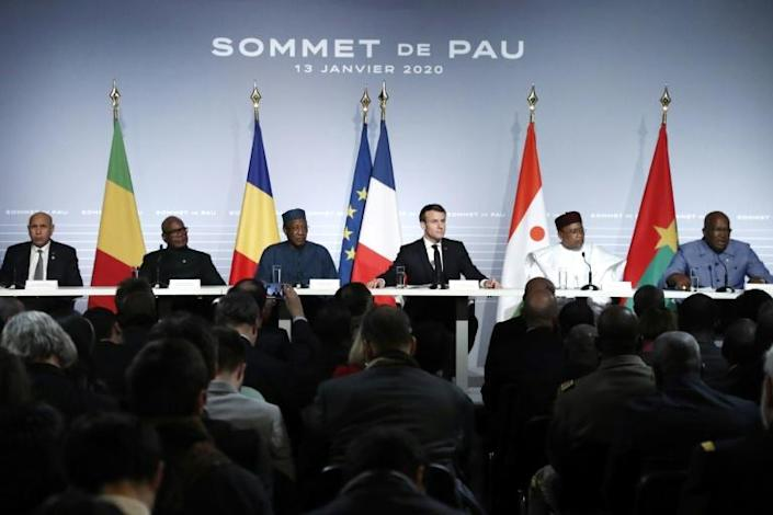 The Nouakchott meeting follows up a summit in January in the southwestern French city of Pau, which sought to reboot the campaign against jihadism in the Sahel (AFP Photo/Guillaume HORCAJUELO)
