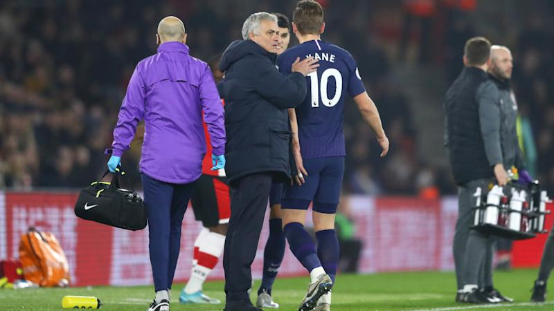 Blow for Tottenham as Kane limps off with apparent hamstring injury against Southampton