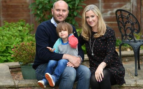 Rachael Bland with husband Steve and son Freddie - Credit: Matthew Pover