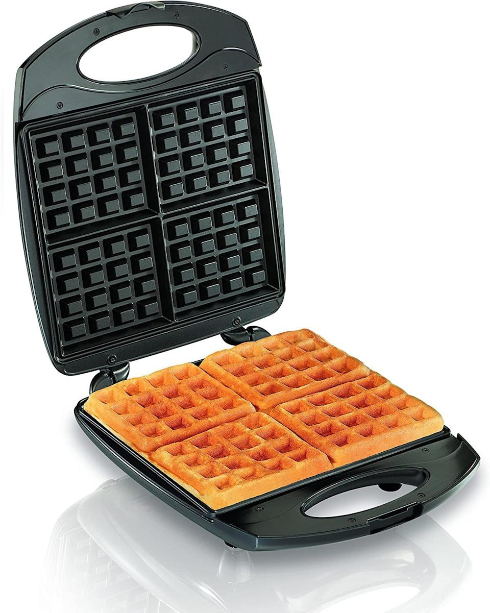 """It'll transform any leftover (think mashed potatoes or stuffing) into waffle-y goodness.<br /><br /><strong>Get it from Amazon for <a href=""""https://www.amazon.com/dp/B005F4YP9I?&linkCode=ll1&tag=huffpost-bfsyndication-20&linkId=e334ebbef1e74c893a3abf92a0b8d6b3&language=en_US&ref_=as_li_ss_tl"""" target=""""_blank"""" rel=""""noopener noreferrer"""">$34.99</a>.</strong>"""