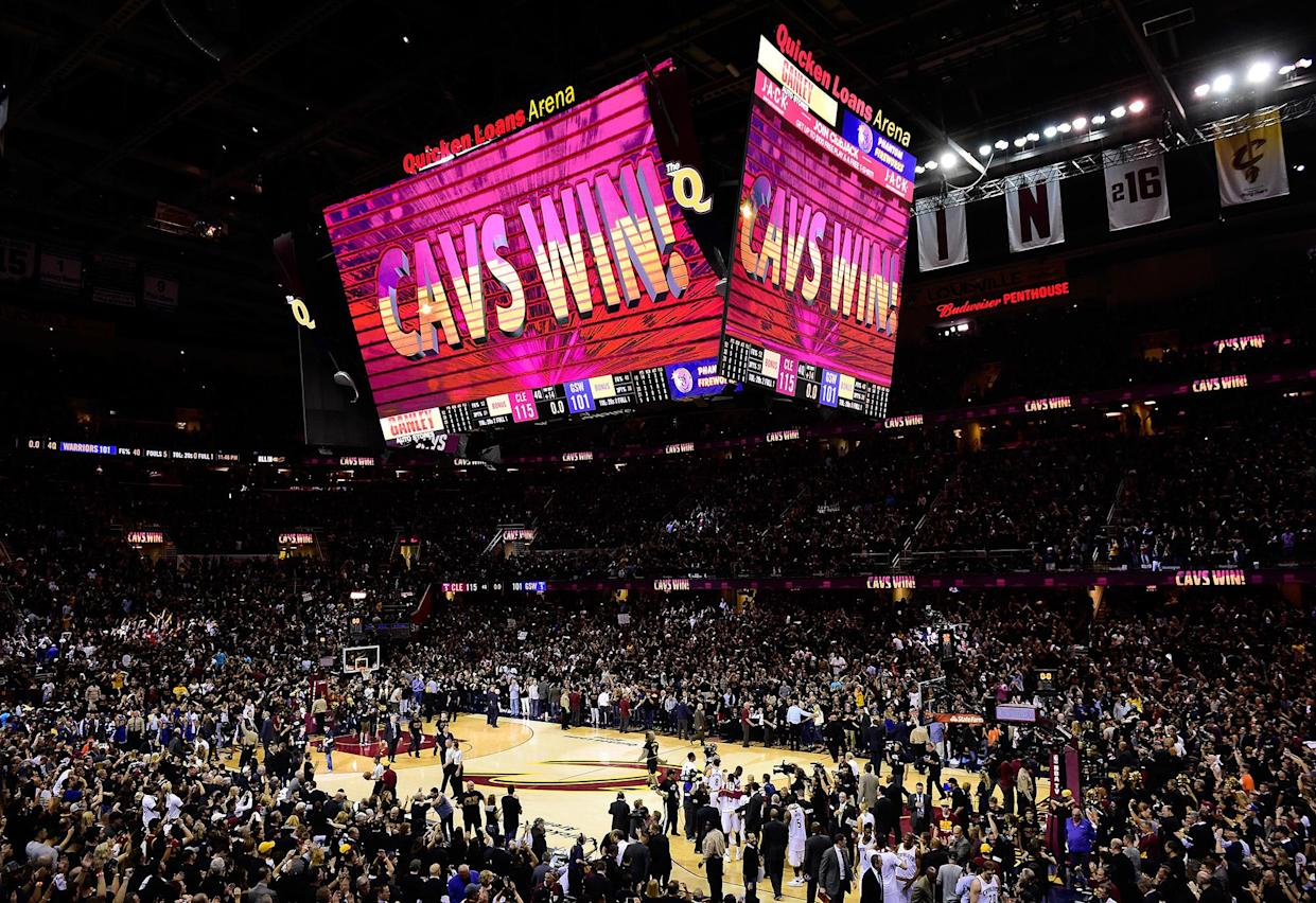 The Cleveland Cavaliers defeated the Golden State Warriors Thursday in Game 6 of the NBA Finals at Cleveland's Quicken Loans Arena. (Photo: Jason Miller/Getty Images)