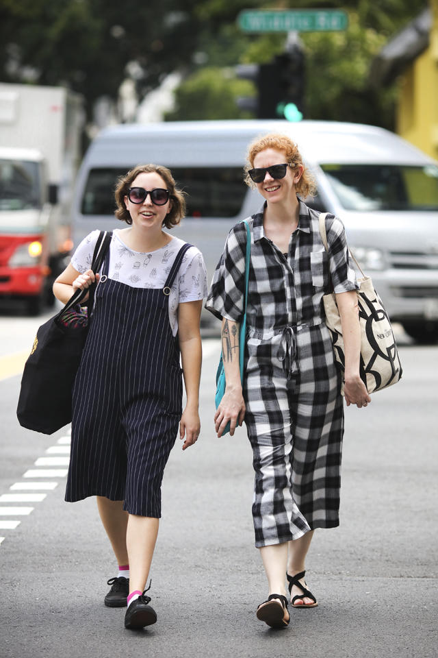 <p>Plimsolls and pinstripes against sandals and checks. (Photo: Don Wong) </p>