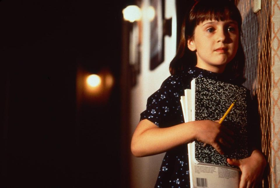 """<p>For a nostalgic feel-good flick, give <strong>Matilda</strong> a watch. From the book to the screen, there's just something so very fall about Matilda and Miss Honey's world. </p> <p><a href=""""https://www.amazon.com/Matilda-Mara-Wilson/dp/B001AQQR2S/ref=sr_1_1?dchild=1&amp;keywords=matilda&amp;qid=1632280220&amp;s=instant-video&amp;sr=1-1"""" class=""""link rapid-noclick-resp"""" rel=""""nofollow noopener"""" target=""""_blank"""" data-ylk=""""slk:Watch Matilda on Amazon Prime Video"""">Watch <strong>Matilda</strong> on Amazon Prime Video</a>.</p>"""