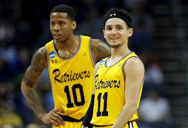 UMBC's Jairus Lyles and K.J. Maura will forever be remembered for their March heroics. (Getty)