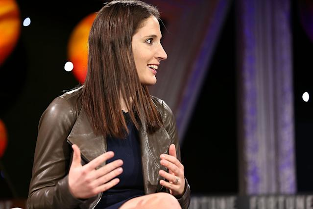 Rachel Holt speaks at Fortune's Most Powerful Women Next Gen 2016 on November 30, 2016 in Dana Point, California. (Joe Scarnici/Getty Images)