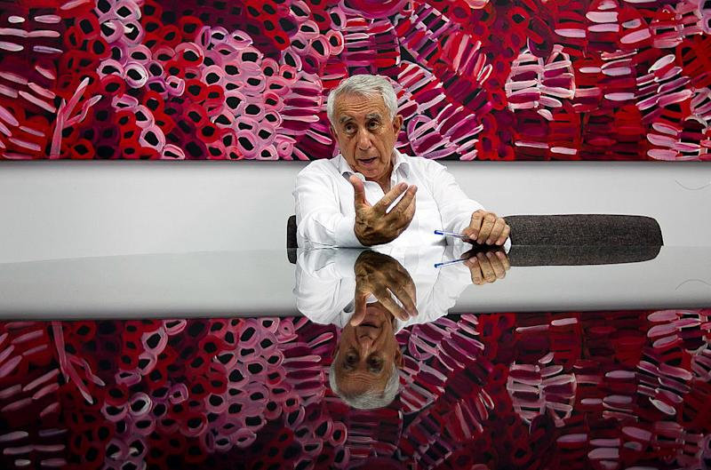 Harry Triguboff, chief executive officer of Meriton Pty Ltd., speaks during an interview at their office in Sydney, Australia, on Friday, Oct 22, 2010. Photographer: Ian Waldie/Bloomberg *** Local Caption *** Harry Triguboff