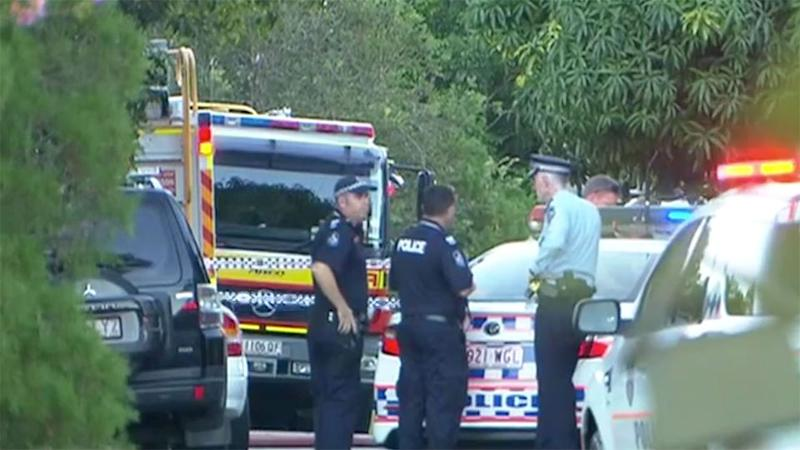 A neighbour heard a cry for help after an explosion and fire ripped through a Brisbane home. Source: 7 News