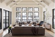 """<p>""""Experiencing the volume of <a href=""""https://www.marthastewart.com/1504223/living-room-design-ideas"""" rel=""""nofollow noopener"""" target=""""_blank"""" data-ylk=""""slk:the great room"""" class=""""link rapid-noclick-resp"""">the great room</a> once it was framed was a highlight—it was wonderful to inhabit the proportions we had drawn and get a sense for the feeling of that room,"""" says Beers. """"It was also wonderful to translate the feeling the homeowner wanted into furnishings that would complement and support the interior architecture.""""</p>"""