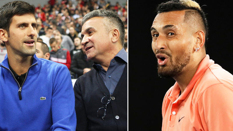 Tennis News Nick Kyrgios Slams Novak Djokovic Father