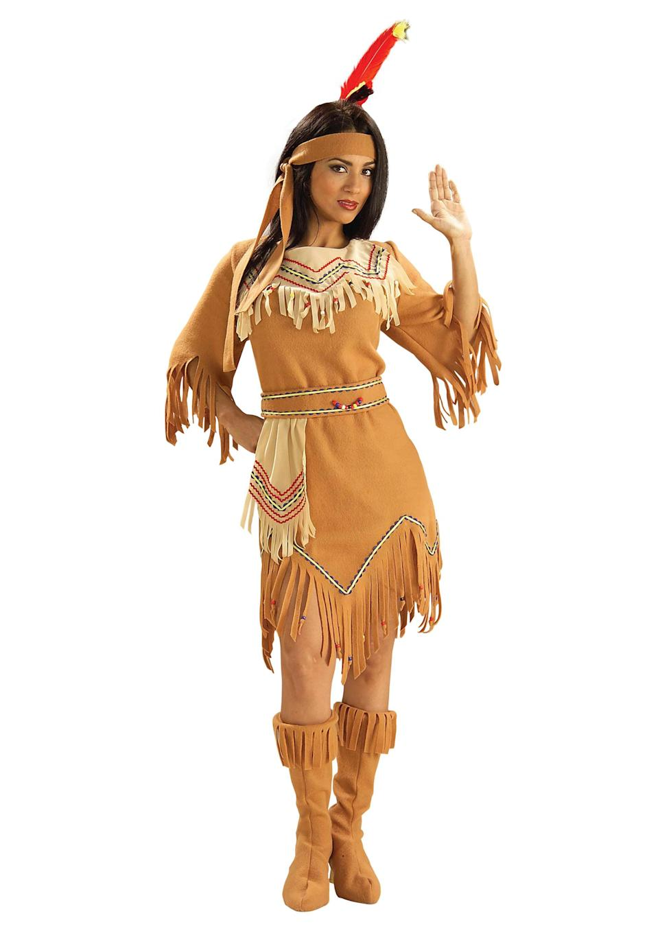 <p>Some of us seemingly still don't realise that cultural appropriation is a thing. Let's ask the Native American community how they feel about this look.<br><i>[Photo: Halloween Costumes]</i> </p>