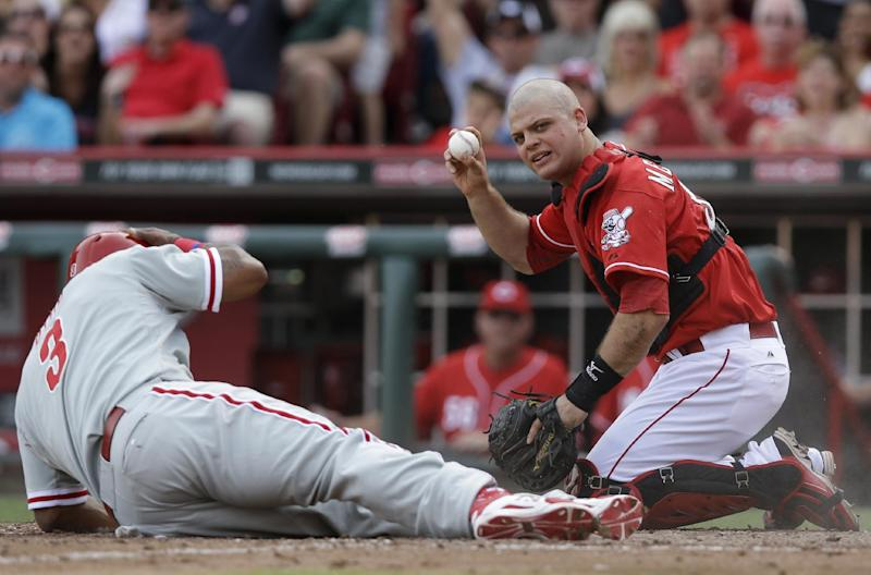 Bruce lifts Reds to 6-5 win over Phillies