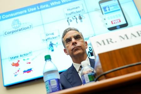 David Marcus, CEO of Facebook's Calibra, testifies to the House Financial Services Committee in Washington.