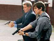 "<p>With a legend like Harrison and a dreamboat like Josh Harnett coming together in an action-filled drama, you would hope the two would become best buds, but that wasn't the case in <em>Hollywood Homicide</em>. Ford and Hartnett apparently <a href=""https://uk.movies.yahoo.com/blogs/movie-editors/harrison-ford-70-best-rows-111936879.html"" data-ylk=""slk:fought through the entirety of filming;outcm:mb_qualified_link;_E:mb_qualified_link;ct:story;"" class=""link rapid-noclick-resp yahoo-link"">fought through the entirety of filming</a>, Ford calling Hartnett a ""punk"", while Harnett struck back and called Ford an ""old fart."" Hartnett later admitted that the two would barely make eye contact with each other on set. </p>"