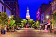 """<p><strong>Church Street </strong></p><p>If you want to experience the personality of Burlington, Vermont, then spend an afternoon or night out on <a href=""""https://www.churchstmarketplace.com/"""" rel=""""nofollow noopener"""" target=""""_blank"""" data-ylk=""""slk:Church Street"""" class=""""link rapid-noclick-resp"""">Church Street</a>. From beautiful architecture, restaurants with a range of local beers and IPAs and steps from Lake Champlain, you really can't go wrong.</p>"""