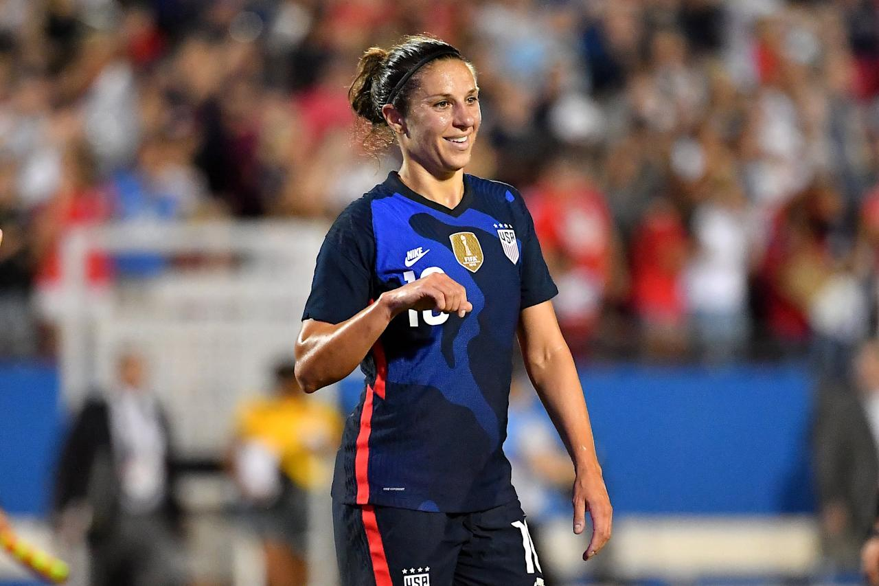 """<p>Lloyd, a two-time World Cup and Olympic champion, was <a href=""""https://www.popsugar.com/fitness/carli-lloyd-uswnt-talks-tokyo-2020-47219879"""" class=""""ga-track"""" data-ga-category=""""Related"""" data-ga-label=""""http://www.popsugar.com/fitness/carli-lloyd-uswnt-talks-tokyo-2020-47219879"""" data-ga-action=""""In-Line Links"""">awaiting to hear if she'd make the final Olympic roster this June</a>. She told Action News, """"<a href=""""http://twitter.com/JeffSkversky/status/1242470848348467200?s=20"""" target=""""_blank"""" class=""""ga-track"""" data-ga-category=""""Related"""" data-ga-label=""""http://twitter.com/JeffSkversky/status/1242470848348467200?s=20"""" data-ga-action=""""In-Line Links"""">This is bigger than sports</a>. It's bigger than an Olympics, and I think it was definitely the right call. Disappointed... you obviously are looking forward to this, as all the other athletes are around the world, but I think for the safety of everybody, it's definitely the best thing."""" She also tweeted that the silver lining is <a href=""""http://twitter.com/CarliLloyd/status/1242488298251137024?s=20"""" target=""""_blank"""" class=""""ga-track"""" data-ga-category=""""Related"""" data-ga-label=""""http://twitter.com/CarliLloyd/status/1242488298251137024?s=20"""" data-ga-action=""""In-Line Links"""">having more time to prepare</a>.</p>"""