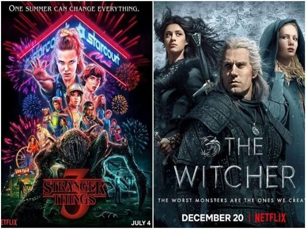Posters of 'Stranger Things' and 'The Witcher' (Image source: Instagram)