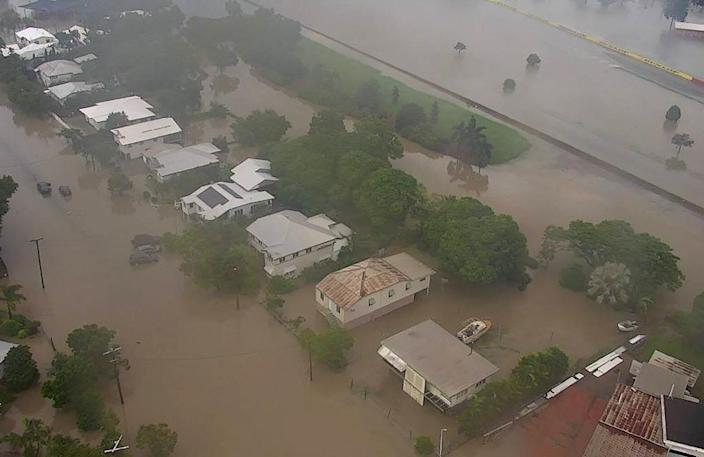 A Queensland Fire and Emergency Services photo of the flooding in Townsville, northern Australia (AFP Photo/Queensland Fire and Emergency Services)