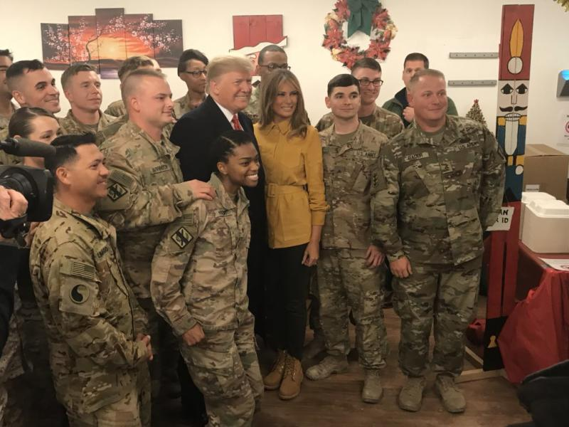 Trump Boasted 10% Raises to the Troops He Visited. The Actual Raise Is Much Lower