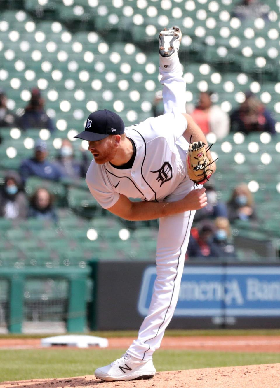 Tigers pitcher Spencer Turnbull throws against the Royals on Monday, April 26, 2021, at Comerica Park.