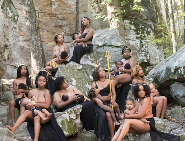 "The goddess-themed photo shoot has gone viral. (Photo: <a href=""https://www.instagram.com/hc_incorporated/"" rel=""nofollow noopener"" target=""_blank"" data-ylk=""slk:Lakisha Cohill"" class=""link rapid-noclick-resp"">Lakisha Cohill</a>, owner of <a href=""https://h-cinc.smugmug.com/"" rel=""nofollow noopener"" target=""_blank"" data-ylk=""slk:H&C INC"" class=""link rapid-noclick-resp"">H&C INC</a>)"