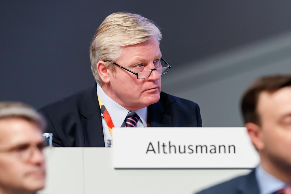 LEIPZIG, GERMANY - NOVEMBER 23: Bernd Althusmann of CDU looks on during the German Christian Democrats of CDU Hold Federal Congress on November 23, 2019 in Leipzig, Germany. (Photo by TF-Images/Getty Images)