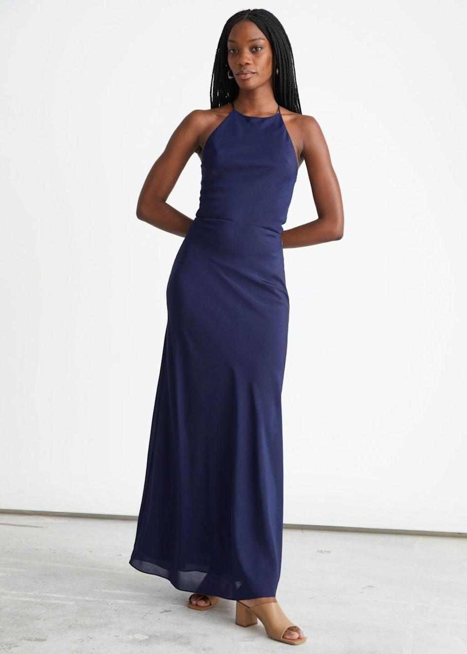 <p>The bow details on the back of this <span>&amp; Other Stories Strappy Maxi Dress</span> ($179) have us sold, but the front is just as pretty to look at. It will flow elegantly as you move.</p>
