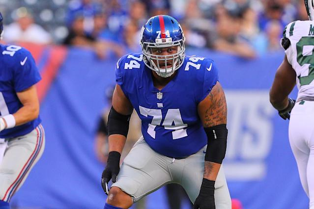 The Giants had enough of offensive lineman Ereck Flowers, cutting him earlier this month. (Getty Images)