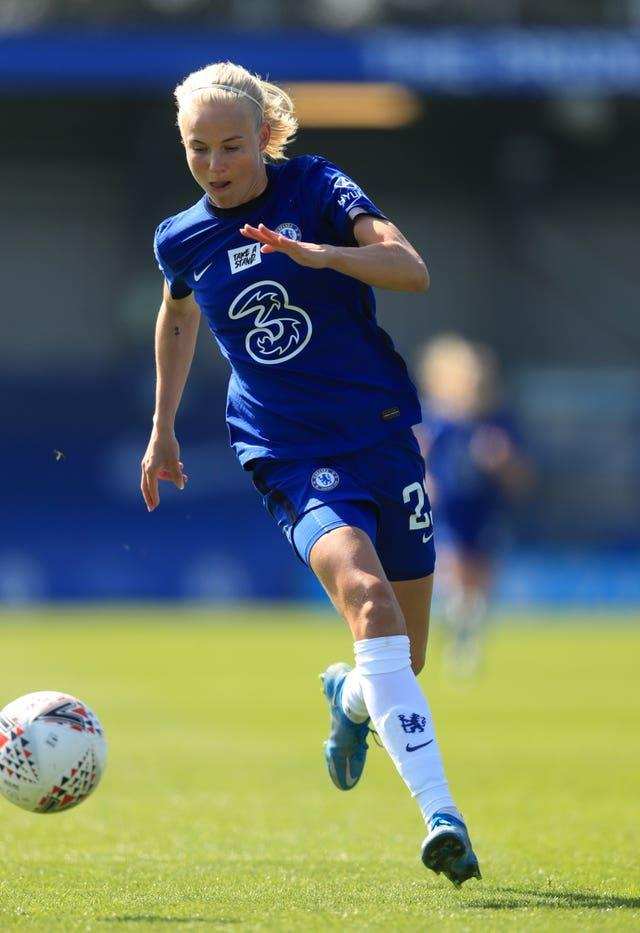 Many players in the women's professional game, like Chelsea's Pernille Harder, are openly gay