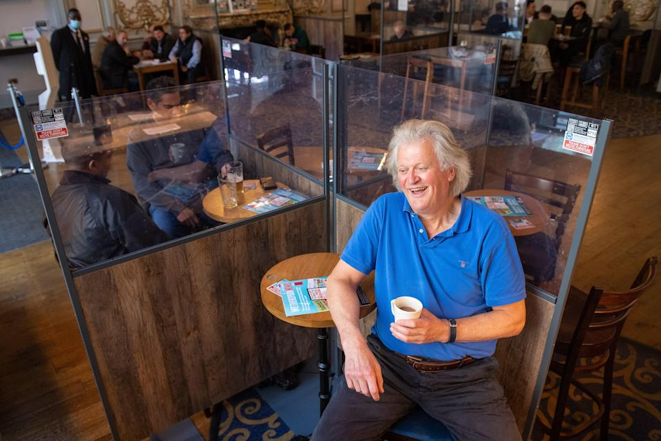 Tim Martin announces Wetherspoon results (PA Archive)