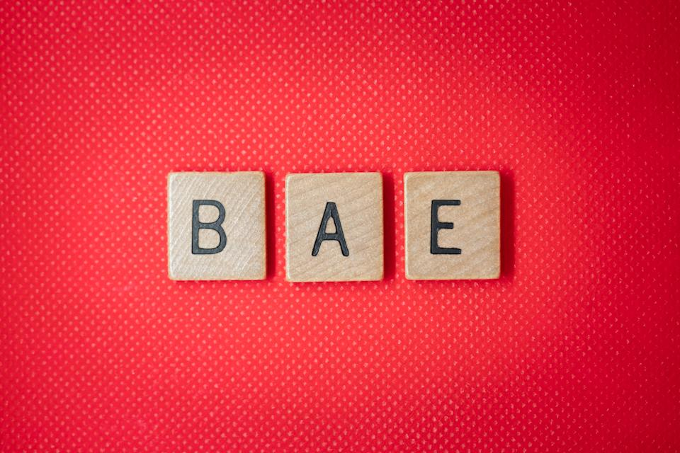 flat lay holiday greeting message for valentine - bae