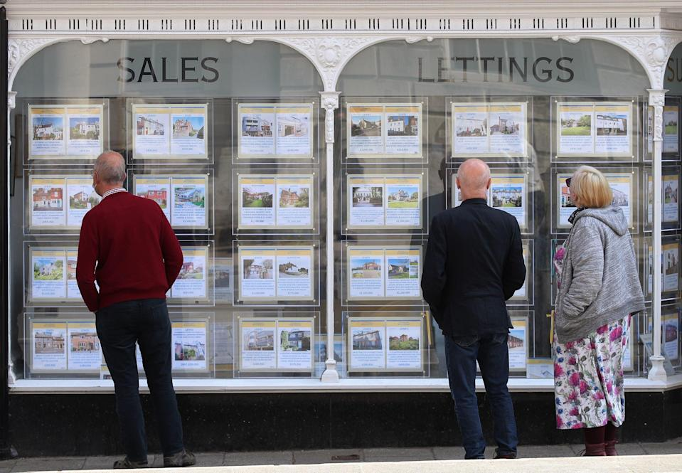 Despite economic turmoil caused by the pandemic, which has caused unemployment to rise, property prices have risen sharply (PA)