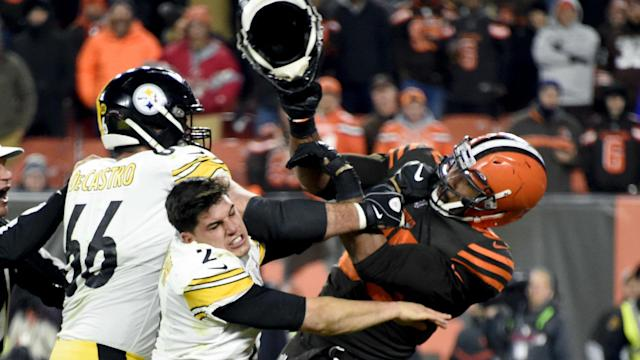 After being reinstated by the NFL, Myles Garrett can link up with his Cleveland Browns team-mates in April.