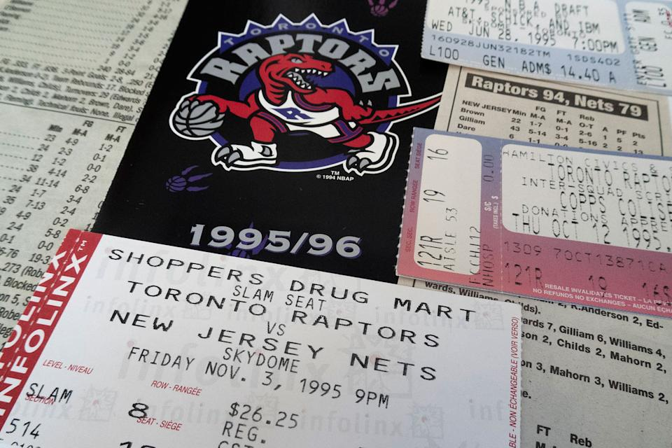 Raptors tickets were a little more accessible 25 years ago. (Graeme Roy/CP)