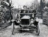 "<p>For the first few years of production, Ford's famous car came in gray, green, blue, and red. It was only after 1914 that customers could order ""any color so long as it is black,"" as the dark paint dried faster than other hues. </p><p><strong>RELATED: </strong><a href=""https://www.goodhousekeeping.com/life/g5177/life-100-years-ago/"" rel=""nofollow noopener"" target=""_blank"" data-ylk=""slk:What Life Was Like 100 Years Ago Compared to Now"" class=""link rapid-noclick-resp"">What Life Was Like 100 Years Ago Compared to Now</a></p>"
