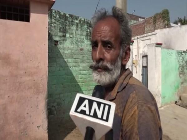 Sham Lal, an affected resident of the Harinagar sector. (Photo/ANI)