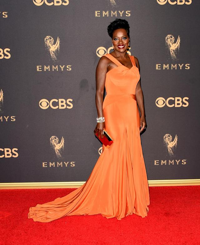 <p>Viola Davis attends the69th Primetime Emmy Awards on Sept. 17, 2017.<br> (Photo: Getty Images) </p>