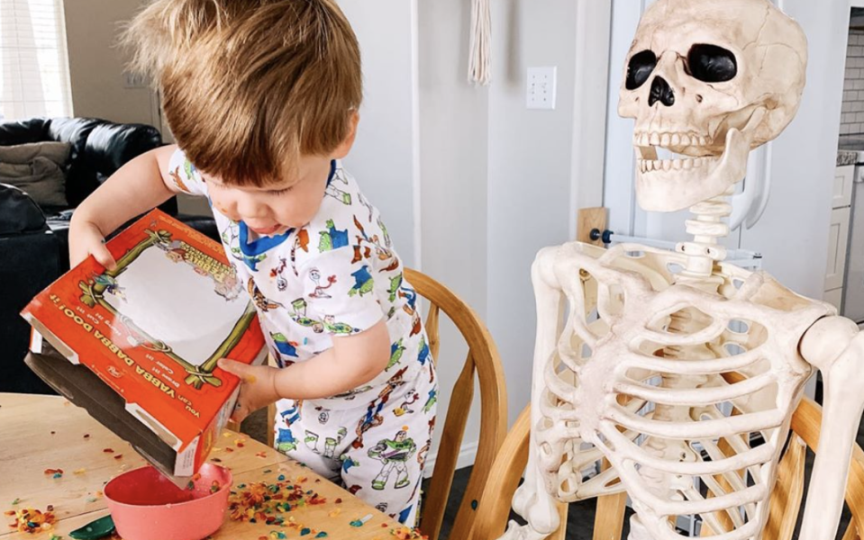 Theo and his favorite skeleton, Benny, went viral after mom Abigail Brady shared the story of their heartwarming bond on social media. (Photo: Abigail Brady Instagram)