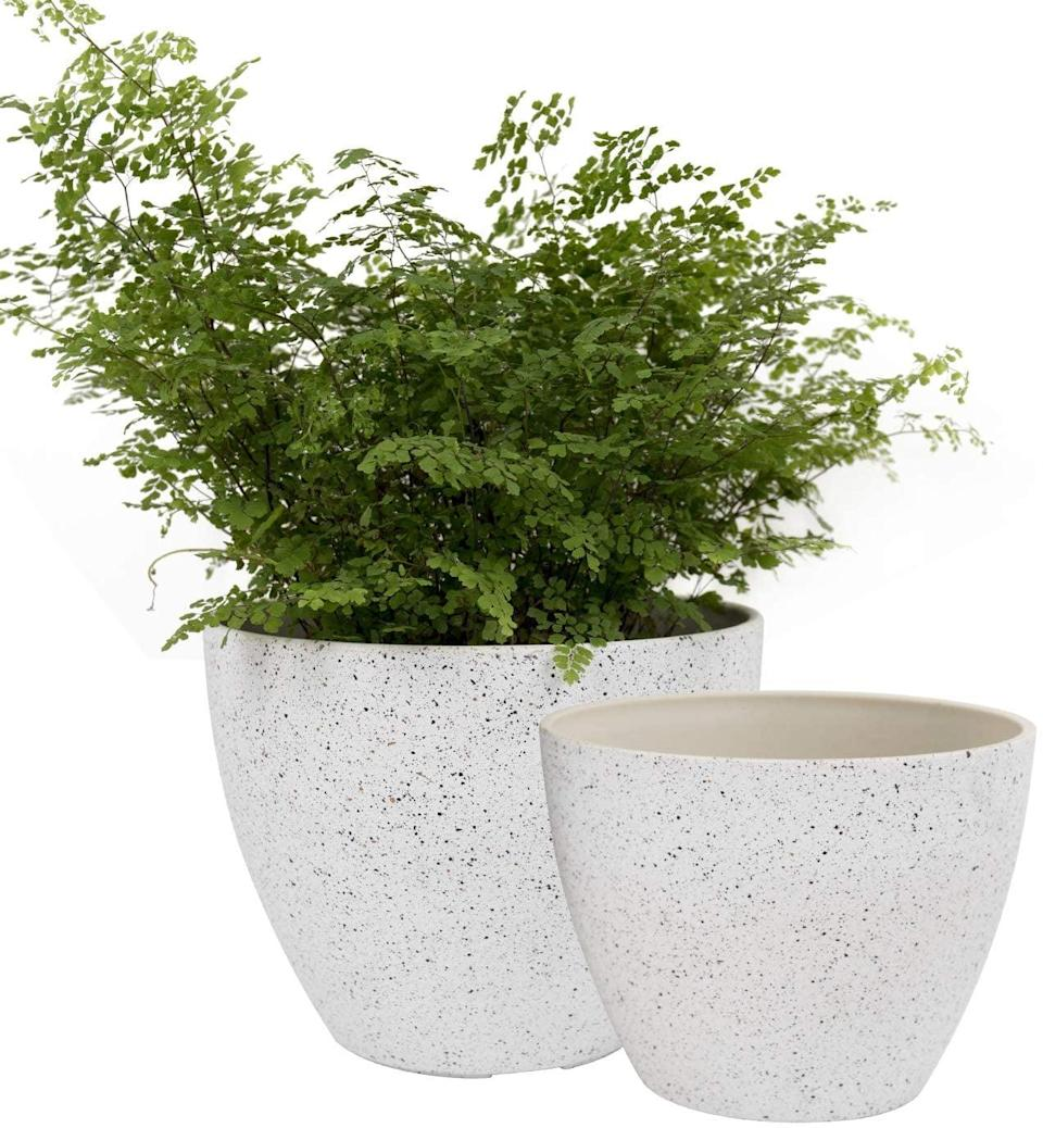 <p>Pro tip: these <span>Jolíe Muse Flower Pots</span> ($20) contain drainage holes that help water circulate and protect against root soil. Not only are they stylish in a minimalist way, but they are a worthy investment that will also help your plants thrive.</p>