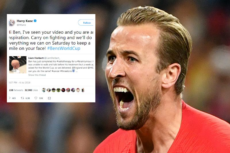 Harry Kane sent a message to a young fan suffering from serious illnessMore