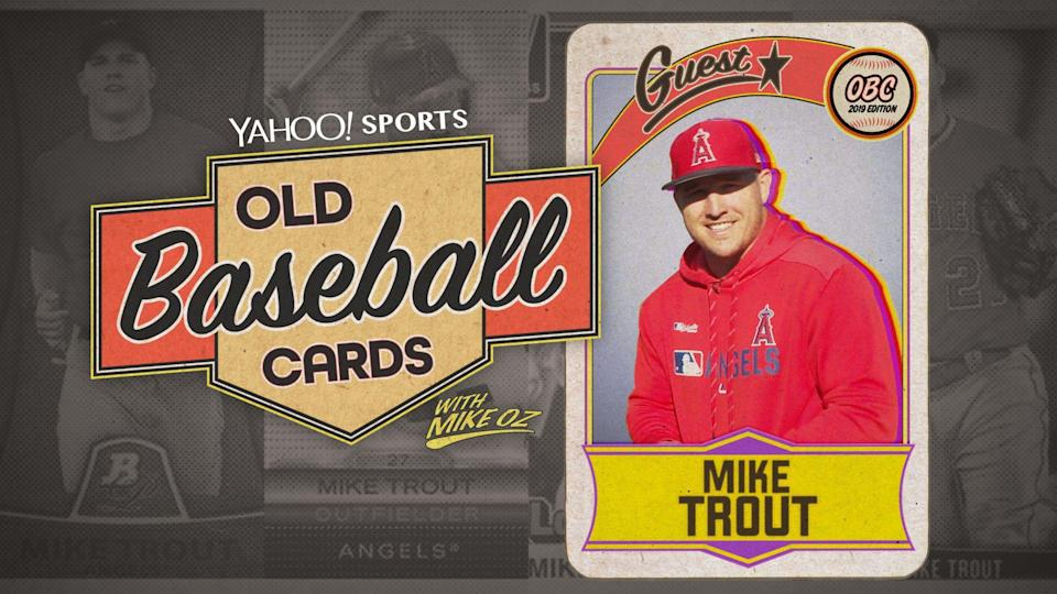 """Mike Trout is this week's guest on """"Old Baseball Cards"""" (Yahoo Sports)"""