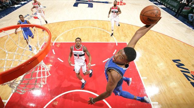 "<p>LOS ANGELES — The Slam Dunk Contest is in desperate need of a new heir to the throne.</p><p>In recent years, the NBA's marquee All-Star Weekend event has enjoyed a nice renaissance thanks to Zach LaVine and Aaron Gordon, whose classic 2016 duel stands as one of the best contests in NBA history. LaVine's sensational 2015 debut and Gordon's (unsuccessful) <a href=""https://www.si.com/nba/2017/02/19/nba-dunk-contest-all-star-weekend-aaron-gordon-drone"" rel=""nofollow noopener"" target=""_blank"" data-ylk=""slk:attempt at a drone-powered redemption"" class=""link rapid-noclick-resp"">attempt at a drone-powered redemption</a> in 2017 set the table for the Dunk Contest in those years too.</p><p>Unfortunately, 2018 is a different story and one in need of new starring characters. LaVine, a two-time champ, missed the first 42 games of the season <a href=""https://www.si.com/nba/2017/02/05/zach-lavine-timberwolves-torn-acl-potential"" rel=""nofollow noopener"" target=""_blank"" data-ylk=""slk:due to an ACL injury"" class=""link rapid-noclick-resp"">due to an ACL injury</a> and won't be competing. Gordon was initially invited back, but he had to scratch earlier this month due to a hip injury. And Glenn Robinson III, last year's surprise winner after Gordon struggled badly in the first round, was unable to defend his crown following ankle surgery last fall.</p><p>Who is set to enter the void? Well, this year's Slam Dunk Contest headliner is Indiana guard Victor Oladipo, the field's only All-Star and its only returning participant. Joining Oladipo are Cleveland forward Larry Nance Jr., a second-generation Dunk Contest participant, and a pair of high-flying rookie guards: Utah's Donovan Mitchell and Dallas's Dennis Smith Jr.</p><p>Oddsmakers view this as an open race, with <a href=""http://www.bovada.lv/"" rel=""nofollow noopener"" target=""_blank"" data-ylk=""slk:Bovada.LV"" class=""link rapid-noclick-resp"">Bovada.LV</a> tapping Smith (7/4) as the favorite followed by Mitchell (11/5), Nance (13/5) and Oladipo (4/1). Here's a complete rundown, with video, of all four contestants.</p><h3><strong>Victor Oladipo, Pacers</strong></h3><p>Oladipo's ability to make the most of an off-season trade from Oklahoma City with a breakout year in Indiana has been one of the league's best storylines this season. The <a href=""https://www.si.com/nba/2018/01/23/all-star-game-reserves"" rel=""nofollow noopener"" target=""_blank"" data-ylk=""slk:first-time All-Star"" class=""link rapid-noclick-resp"">first-time All-Star</a> and Most Improved Player candidate will get a second chance at adding a Dunk Contest belt to his résumé after finishing second to LaVine in 2015.</p><p>At 6'4"", Oladipo is a compact, power dunker who favors spinning tricks. In 2015, his best dunk was a ""540"" in which he double-clutched and then reached back for a reverse finish following a dizzying spin. That dunk drew a perfect ""50"" from the judges and led Oladipo to parade around the court with a sign that read ""Mr. 360,"" much to the crowd's delight. Surely, Oladipo will go back to that portion of his toolbox on Saturday, given how quickly and effortlessly he is able to complete mid-air rotations. </p><p>The rest of Oladipo's 2015 contest was less impressive: He caught an alley-oop off the side of the glass for a one-handed 360, he tried and failed to complete a lefty dunk after jumping over a seated Elfrid Payton, and he ended with a simple windmill after taking an alley-oop off the back of the backboard. While the 25-year-old Oladipo still has plenty of bounce and charisma three years later, he'll need more creativity—and perhaps some additional props or stunts—to keep up with the younger guards in this year's competition. </p><h3><strong>Larry Nance Jr. Cavaliers</strong></h3><p>Larry Nance Jr. is the son of Slam Dunk Contest royalty. In 1984, Suns forward Larry Nance Sr. completed nine dunks over three rounds to win the league's first ever Dunk Contest, besting a star-studded nine-member field that included Hall of Famers Julius Erving, Dominique Wilkins, and Clyde Drexler. Nance Sr. used his long arms to rock the cradle, he dunked two balls simultaneously, he tossed an alley-oop off the glass, and he swooped underneath the basket for reverse dunks. By modern standards, of course, his work looks pedestrian.</p><p>After multiple years of Dunk Contest hype were derailed by various injuries, Nance Jr. is finally healthy and ready to follow in his father's footsteps. The 25-year-old Nance Jr. has compiled a long list of posterization victims during his three-year career thanks to his 6'9"" frame, excellent springs, and fearlessness. His signature is his willingness to extend fully so that the ball is well above the rim at its apex, and those Statue of Liberty style dunks made him a Staples Center favorite during his two-plus seasons with the Lakers prior to his trade to the Cavaliers last week.</p><p>Nance Jr. appears headed for a boom-or-bust contest. He has three distinct advantages: 1) His size and length set him apart from his competitors, 2) He should enjoy a home-court advantage in L.A., and 3) his father's place in NBA history sets up the obvious possibility of tribute dunks, old-school jerseys, and other heartwarming narrative-generating fare. However, one-handed tomahawks play a lot better over Kevin Durant than they do in the Dunk Contest, a friendly audience can only do so much, and retro nostalgia must be supplemented with title-worthy material. Nance Jr. also faces the classic big man challenge: His dunks will need to have enough technical elements so that they don't come off looking simplistic or ""easy"" given his significant height advantage over his three competitors.</p><h3><strong>Dennis Smith Jr., Mavericks</strong></h3><p>Pegged as a possible Rookie of the Year candidate during the preseason, Dennis Smith Jr. has quietly receded from the headlines for most of the 2017–18 season. Despite eye-popping physical tools, the 6'3"" guard has struggled to score efficiently, and the Mavericks have been way out of the playoff picture all season. Other rookies like Ben Simmons, Jayson Tatum, Donovan Mitchell and even Lonzo Ball have gobbled up all of the attention.</p><p>That said, Smith is built to win a Dunk Contest: He explodes off the court, he consistently gets head-level to the rim, and he finishes like he's trying to rip the basket off its stanchion. But don't sleep on his technique! As this highlight reel from Team Flight Brothers shows, the 20-year-old Smith is capable of finishing with either hand after putting the ball between his legs in mid-air.</p><p>The Slam Dunk Contest buzz picked up for Smith during Las Vegas Summer League, as he consistently dazzled during lay-up lines and in games. At his best, he boasts a rare combination of grace and might that has consistently drawn comparisons to Steve Francis and a young Derrick Rose.</p><h3><strong>Donovan Mitchell, Jazz</strong></h3><p>If there's one major downside to the composition of this year's field, it's that Oladipo, Smith and the 6'3"" Donovan Mitchell are cut from a similar cloth as smaller guards with thunderous potential. It seems inevitable that Saturday's contest will start to blur together because the field is lacking a long-and-lean pogo-stick like 2017 runner-up Derrick Jones Jr., a true center like DeAndre Jordan or Andre Drummond, or a mighty mouse candidate like Nate Robinson.</p><p>However, Mitchell, a late addition once Gordon scratched, hasn't had any problem separating himself from the pack this season. He's leading all rookies in scoring, pushing Simmons for Rookie of the Year honors, and doing more than his fair share to keep Utah in the West's playoff picture. His leaping ability is a huge part of his appeal: Mitchell bounced high against the Lakers for a put-back slam that stands as one of the NBA's best dunks this season, he's completed one-handed alley-oops and windmills in games, and he tracks towards the rim like a heat-seeking missile. He's not a League Pass favorite by accident. </p><p>Will Mitchell's dunking style translate to the contest format? The audience has been spoiled by LaVine, Gordon, Robinson III and others in recent years, and to keep pace Mitchell will need to display a level of creativity and intricacy that he hasn't yet shown in games. No matter how forcefully delivered, a windmill isn't going to cut it on Saturday.</p><h3><strong>SI.com prediction: Smith over Nance Jr. in the finals</strong></h3><p>Given that Nance has openly campaigned to be in the Dunk Contest for years, it seems like a safe bet that he'll have a trick or two up his sleeve to ensure that he advances out of the first round.</p><p>Of the three smaller guards, Smith boasts the most pop and has the deepest catalog of high degree-of-difficulty dunks on tape. Back in 2014, Washington's John Wall combined leaping ability, athleticism and just enough tricks with the ball to lead the East to the Slam Dunk Contest title (it was a <a href=""https://www.si.com/nba/point-forward/2014/02/16/2014-nba-slam-dunk-contest-format-rules-john-wall-paul-george"" rel=""nofollow noopener"" target=""_blank"" data-ylk=""slk:team event that year"" class=""link rapid-noclick-resp"">team event that year</a>). If Smith can handle the nerves that come with his first time on the NBA's big stage, he should take home the crown by following a Wall-like formula.</p>"