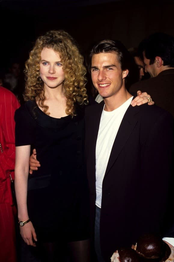 At the premiere of Far And Away (1992) with Mr Cruise